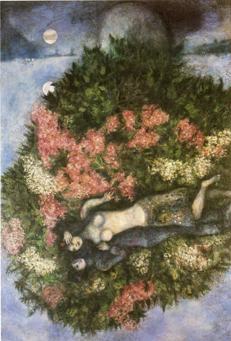 Marc Chagall. Lovers in the Lilacs. 1930
