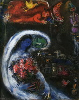 Marc Chagall. Bride with Blue Face, 1932