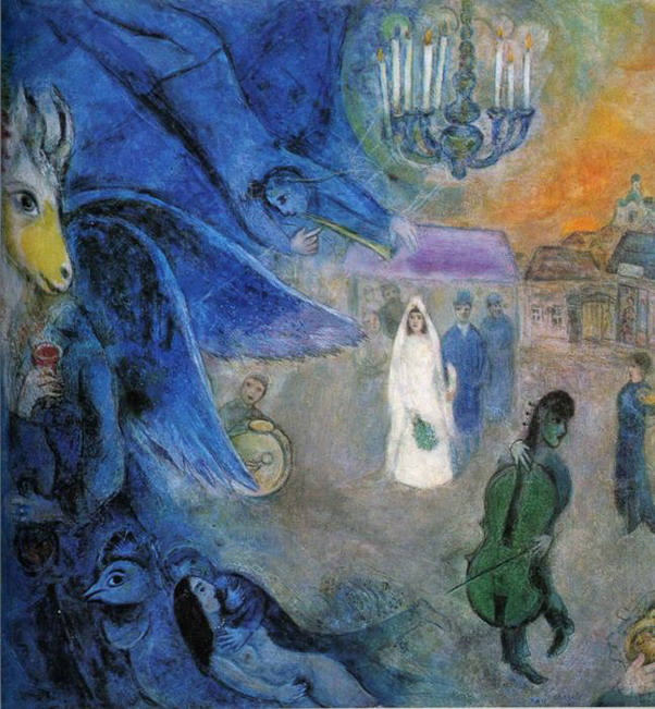 Marc Chagall. The Wedding Lights. 1945