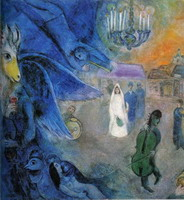 Marc Chagall. The Wedding Lights, 1945