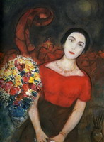 Marc Chagall. Portrait of Vava. 1953 - 1956