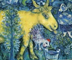 Marc Chagall. The Farmyard. 1954