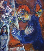 Marc Chagall. Artist at Easel, 1959