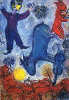 Marc Chagall. Cows over Vitebsk, 1966
