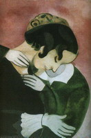 Marc Chagall. Pink Lovers, 1916