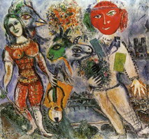 Marc Chagall. The Players, 1968