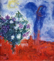 Marc Chagall. Lovers over Sant-Paul, 1970–1971
