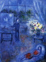 Marc Chagall. Artist and His Model, 1970