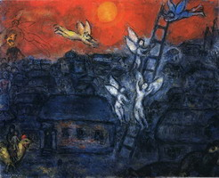 Marc Chagall. Jacob's Ladder, 1973