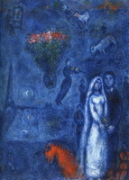 Marc Chagall. Artist and His Bride, 1980