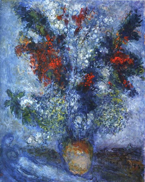 Marc Chagall. Flower Bouquet. 1982