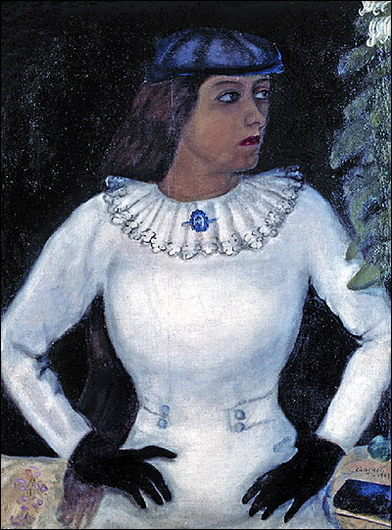 Marc Chagall. Bella in Black Gloves. 1915