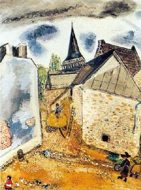 Marc Chagall. Church on Lake Chambon. 1926