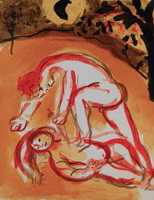 Marc Chagall. Cain and Abel, 1960
