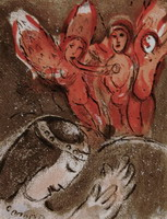 Marc Chagall. Sarah and the angels, 1960