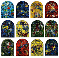 Marc Chagall. Cycle if 12 stained glass windows for Abbell Synagogue in Hadassah Medical Center, 1962