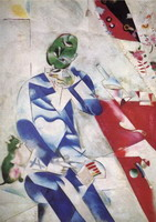 Marc Chagall. The Poet, or Half Past Three, 1911–1912