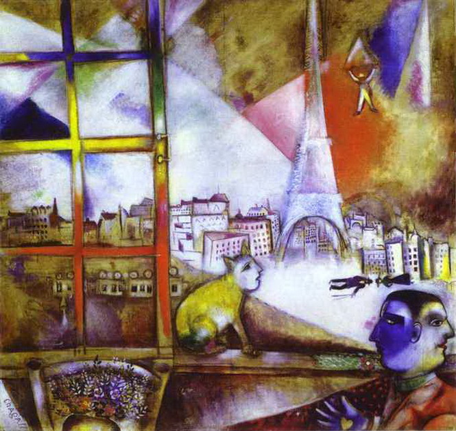 Marc Chagall. Paris through the Window. 1913
