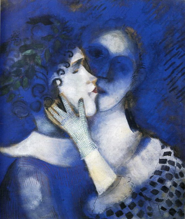 Marc Chagall. Blue Lovers. 1914