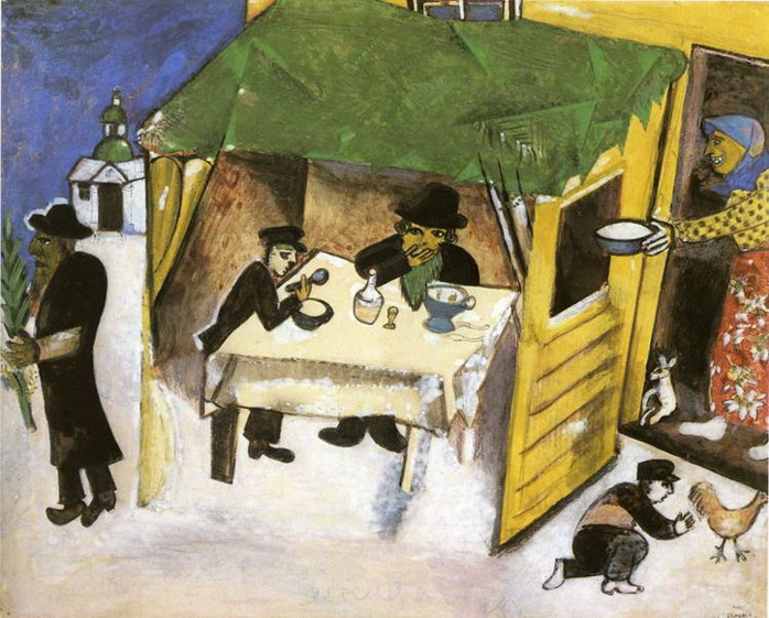 Marc Chagall. The Feast of the Tabernacles. 1916