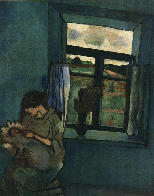 Marc Chagall. Bella and Ida by the Window. 1916