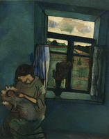 Marc Chagall. Bella and Ida by the Window, 1916