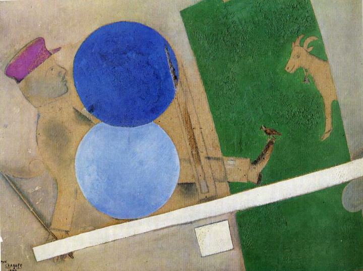 Marc Chagall. Composition with Circles and Goat. 1919
