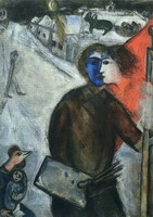 Marc Chagall, Hour between Wolf and Dog (Betwenn Darkness and Light), 1938