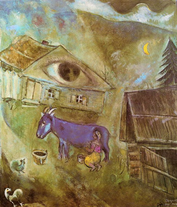 Marc Chagall. The House with the Green Eye. 1944