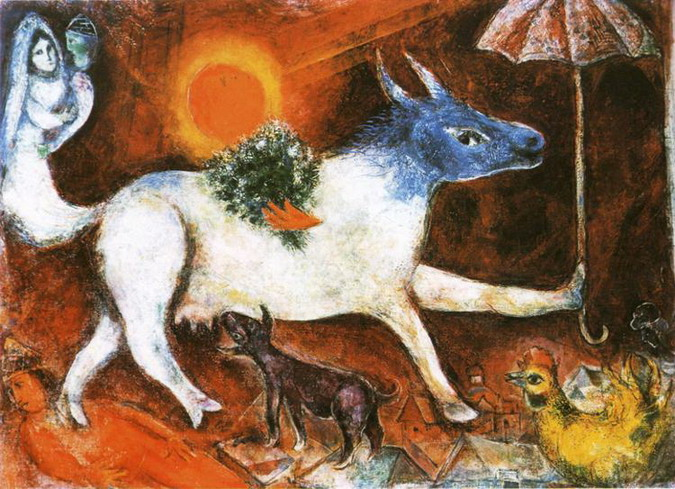 Marc Chagall. Cow with Parasol. 1944