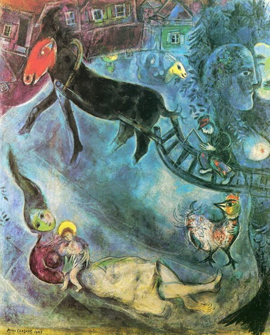 Marc Chagall. Madonna with the Sleigh. 1947