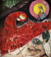 Marc Chagall, Red Roofs, 1953 - 1954