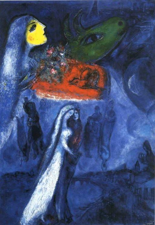 Marc Chagall. On Two Banks. 1953
