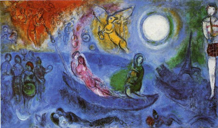 Marc Chagall The Concert 1957