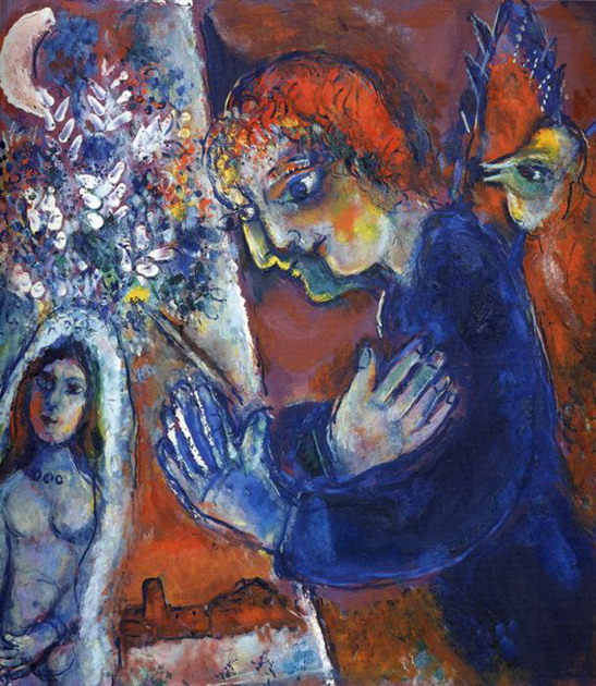 Marc Chagall. Artist at Easel. 1959