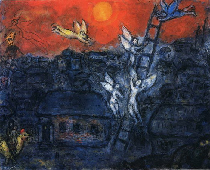 Marc Chagall. Jacob's Ladder. 1973