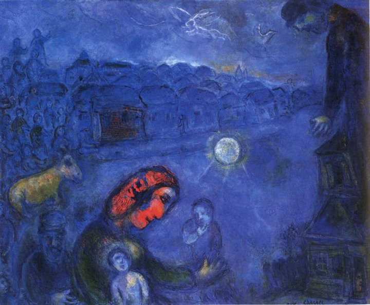 Marc Chagall. Blue Village. 1975