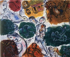 Marc Chagall, Composition, 1976