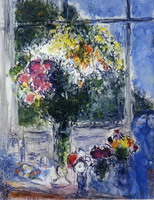 Marc Chagall, Window in Artist's Studio, 1976