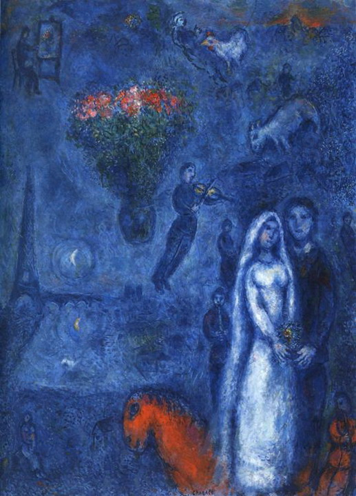Marc Chagall. Artist and His Bride. 1980