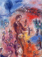 Marc Chagall, Artist at a Festival, 1982