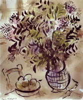 Marc Chagall. Still Life with Vase of Flowers, 1918
