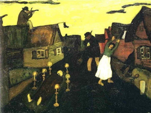 Marc Chagall. The Death. 1908