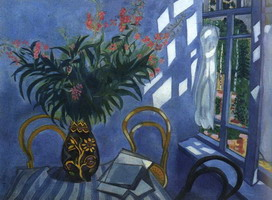 Marc Chagall. Interior with flowers, 1918