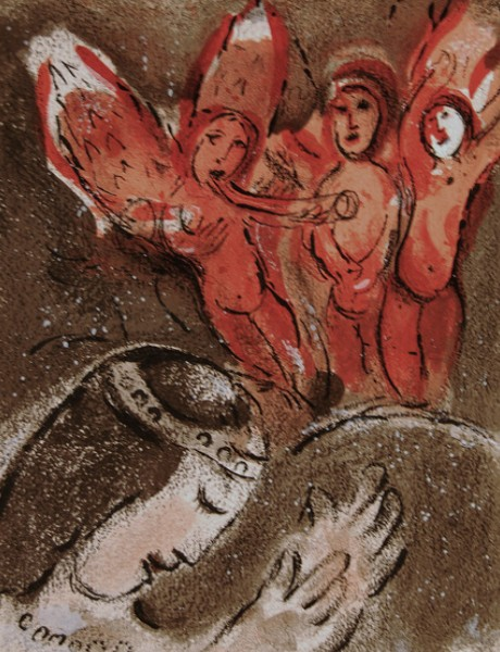Marc Chagall. Sarah and the angels. 1960