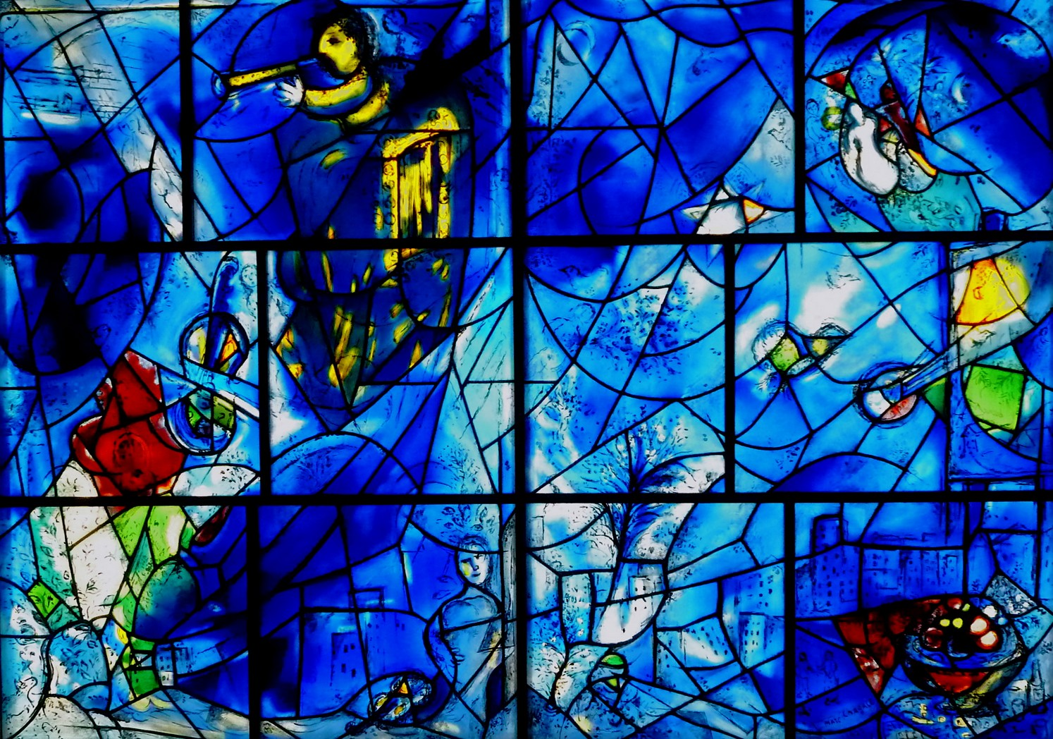 Marc Chagall. America Windows Vitrage  Window for Art Institute of Chicago. 1977
