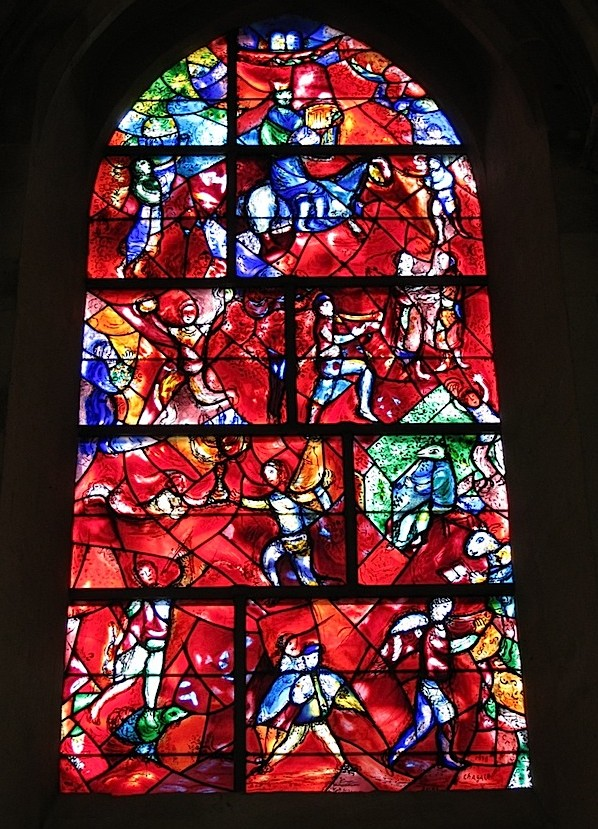 Marc Chagall. Stained-glass window at Chichester Cathedral. 1978