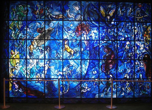 Marc Chagall. Peace Window -  stained-glass window - memorial to Dag Hammarskj?ld. 1964