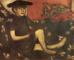 Marc Chagall. Young Girl on a Sofa (Mariaska), 1907