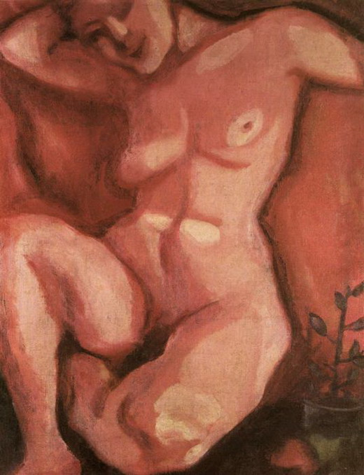 Marc Chagall. Red Nude Sitting Up. 1908